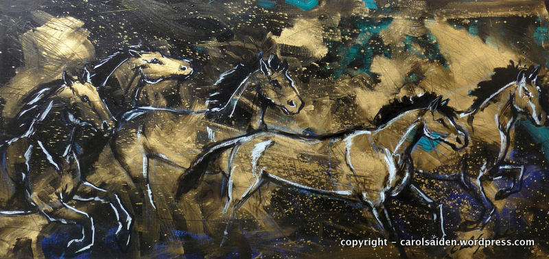 Cavalos- Mixed thecnique canvas 50x100cm - Exposed at Brick Lane galery - London- 2012 - A VENDA PELA AVA GALLERIA